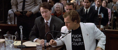 fuck this court t-shirt worn by Larry Flynt in a court